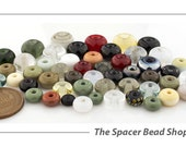 SALE 45% off - Single Beads NEUTRAL NICETIES Assortment Glass Beads Lampwork Spacers Handmade - The Spacer Bead Shop