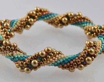 Bead Crochet Kit - Arizona Desert Intermediate Bead Crochet Kit.  Pearls, Crystals, Beads, Thread, and Pattern and Hints document
