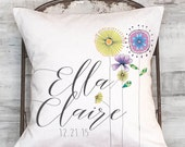 Baby Gift Personalized Baby Shower Gift Nursery Decor Pillow Cover