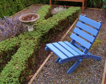 Garden Comfort! - Relax on a Periwinkle Blue Cedar Chair - Storable - Great Outdoor Furniture by Laughing Creek