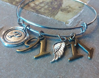 CHRISTIAN BRACELET, Scripture Bangle Bracelet, PSALM 91:11, For He will command His Angels to guard you in all your ways
