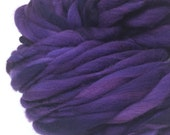 Handspun yarn, 50 yards and 3.3 ounces, 94 grams, spun super chunky, thick and thin in merino wool