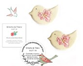 275 Bird Shaped Seed Bombs with Custom Instruction Cards