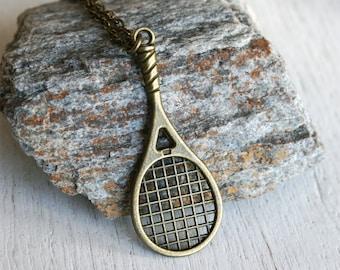 Tennis Necklace / Tennis Racket Necklace
