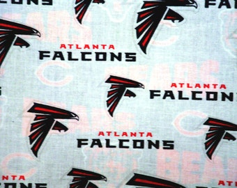 "NFL Football ATLANTA FALCONS, Cotton Fabric, 18"" X 58"", 1/2 Yard, New"