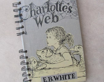 Recycled Vintage Book Charlotte's Web Handmade Journal Upcycled