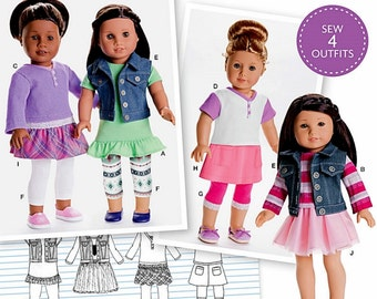 18 inch Dolll Clothes Pattern - American Girls Doll Clothes Pattern - Simplicity Sewing Pattern 8041