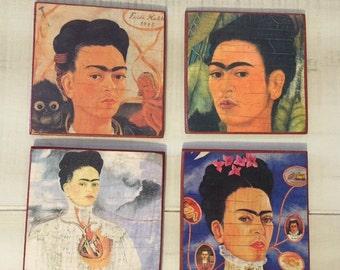 Set of 4 Frida Kahlo Coasters