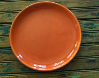 Vintage California Padre Red Orange Plate #401