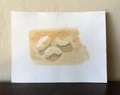 Apple Slices - Original Watercolor Painting