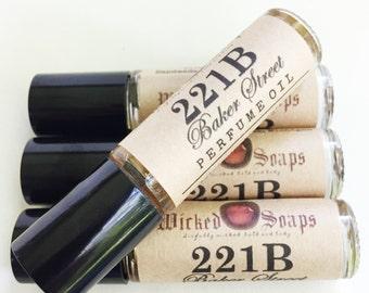 221B Baker Street Perfume Oil - Roll On Perfume Oil, Roller Perfume Oil