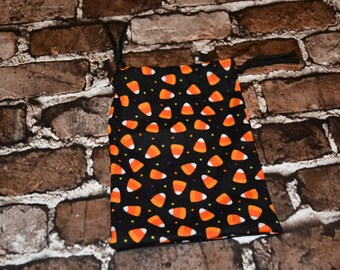 Candy Corn Drawstring Bag/ Goody Bag/ Party Favor/ Birthday Party/ RPG/ DND/ Dice Bag/ Accessory Bag/ Gift for Her/ Him/ Birthday Gift