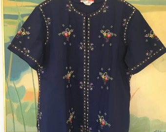 Chinese Embroidered Top • Elegant Vintage Top • Bohemian Top •