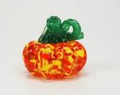 Red-Orange-Yellow Glass Mini-Pumpkin
