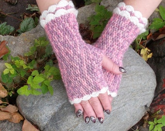 Crochet  Fingerless Mittens  Gloves ready to ship