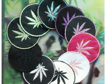 Pot Leaf Embroidered Patch