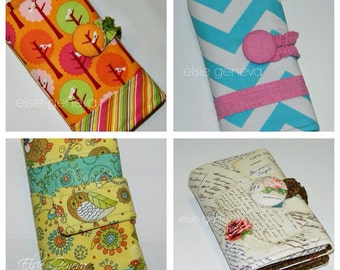 Choose Any Fabric Personalized Crochet Hook Case Organizer Button Closure Zipper Pocket