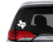 Roller Derby Decal || State Pride || Roller Derby Car Decal || Roller Girl Car Sticker || Roller Derby Sticker || Pick Your State