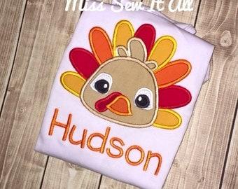 Boys Turkey Shirt, Boys Custom Turkey Shirt, Boys Custom Thanksgiving Shirt, Boys Fall Thanksgiving Shirt, Boys Turkey Tee