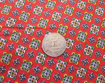 "Fabric - Small Print  Vintage - Quilting - 1970s Cranston Print Works Cotton- 44"" Wide - Sold by the 1/2 Yard - Quilt Weight"