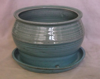 Green and Turquoise Planter