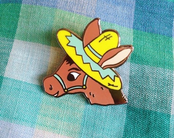 Donkey Enamel Pin - Lapel Pin - Badge - Brooch - Novelty Brooch