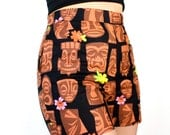 CLOSE OUT SALE!!!High Waisted Tiki Hawaiian Shorts