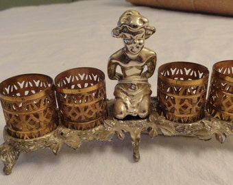 Filigree Lipstick Holder 1950s Vanity Beauty