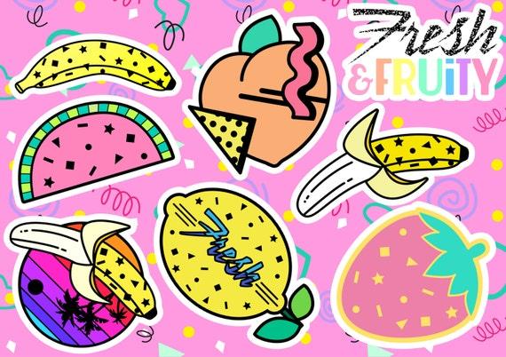 Fresh & Fruity Handmade Kiss Cut Sticker Sheet