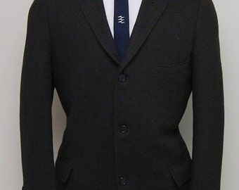 SALE 1940s men's brown herringbone wool blazer/ 40s men's brown herringbone wool blazer/ Witkowski