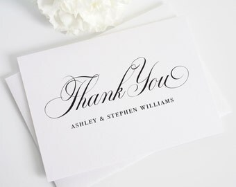 Thank You Cards - Timeless Calligraphy Design