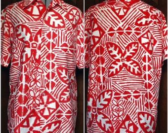 1950s Royal Polynesian Hawaiian Shirt