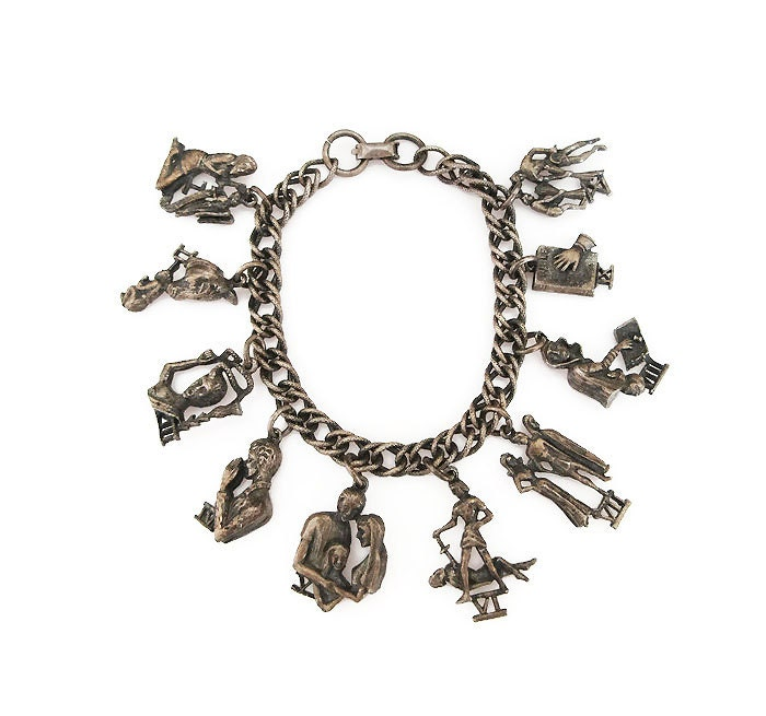 coro ten commandments charm bracelet bible biblical