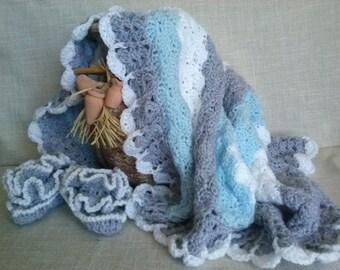 Crochet Afghan,  baby blankets, blanket newborn, blanket baby blanket, crochet  blanket newborn, Vintage style Pram, Crib  blanket