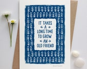 Friendship Card | Cards for Friends | Friends Card  | Luxury Greetings Card | Fine Art Card