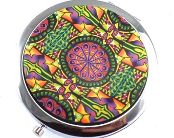 Colorful Polymer Clay Compact Mirror