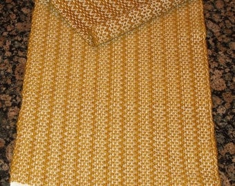Handwoven Table Runner - Gold