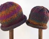 Child Adult Hat Rolled Brim Beanie Size SMALL 1 to 6 months Color No. 27 REGAL