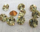 SS20 Swarovski Jonquil Light Yellow Round Rhinestone #1028 Qty 10
