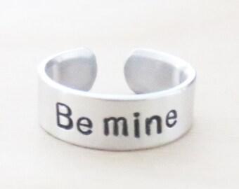 Be mine ring - Valentine gift - Boyfriend ring girlfriend ring - Sweetheart rings - Relationship ring