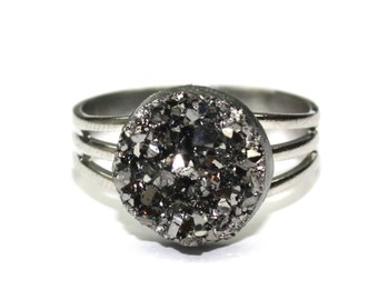 Charcoal Sparkle Ring