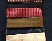 Vintage Lot of 11 Retro Narrow Skinny Neckties  - Square Bottom