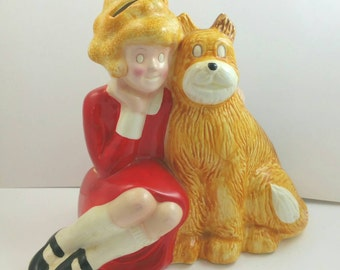 Little Orphan Annie Ceramic Bank  Signed Applause 1982