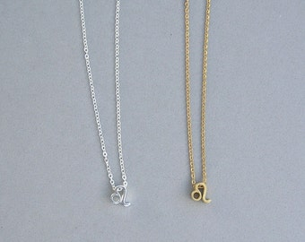 Zodiac Leo Necklace in Silver Plated or Gold Plated