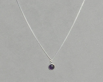 Amethyst Gemstone Drop Necklace