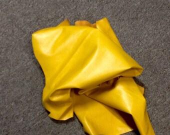 AU07.  Mustard Leather Lambskin