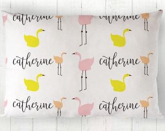 Gift For Kids- Custom pillowcase-Personalized Pillowcase for kids-Personalized kids gifts-Toddler Pillowcase -Flamingo Pillow -Birthday Gift