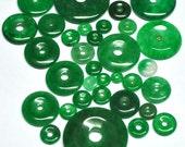 Emerald Green Aventurine, Gemstone Beads, Round, Donut Shape, Jewelry supply - 33 pcs Parcel - 5.2-25.1 mm - 126.9 ct - 160229-02