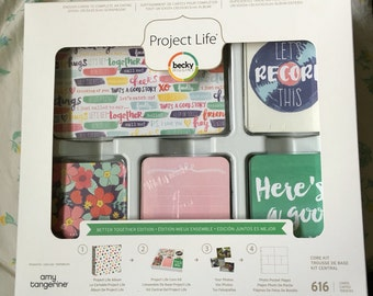 Becky Higgins Project Life 1/4  Partial Core Kit - BETTER TOGETHER edition - 154 cards - New release