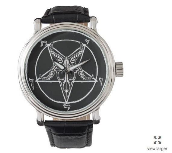 Baphomet Pentagram vintage style watch
